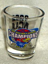 2008 FINAL FOUR NCAA KU KANSAS JAYHAWKS CHAMPS Champions SHOT GLASS
