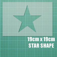 """A4 19cm x 19cm (7.5"""") Forma di Stella Stencil T-shirt AEROGRAFO VINTAGE MYLAR"""