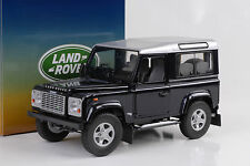 Land Rover Defender 90 TD5 Wagon baltic blue silver roof 1:18 UH