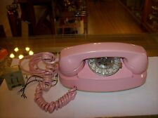 VINTAGE WESTERN ELECTRIC BELL SYSTEM PINK PRINCESS ROTARY DESK PHONE 1960's