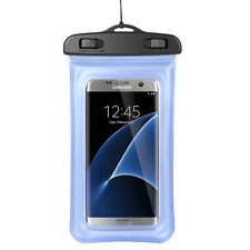 Blue Waterproof Pouch Bag Case for Samsung Galaxy S8 / S7 Edge /J7 Prime / On7