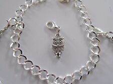 WISE OWL HARRY POTTER PAGAN  3D charm clip on lobster clasp for charm bracelets