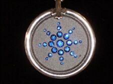 QUANTUM PENDANT Blue Crystal Ringed 6000 Neg Ions With Scalar Energy