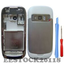 New Silver White Fascia Full Housing Case Metal Battery Cover for Nokia C7 C7-00