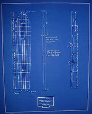 "Hawaiian Islands Surfboard Blueprint Drawing Plan Hawaii 1932 20""x24"" (062)"