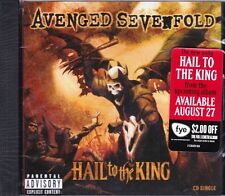 Avenged Sevenfold Hail to the King CD Single New PA 2trk w/Nightmare Live A7X