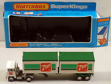 DTE LESNEY MATCHBOX SUPERKINGS SK-17 7 UP SCAMMELL DUAL CONTAINER TRUCK NIOB