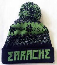 "Earache ""Logo"" Winter Bobble Hat - NEW carcass entombed napalm death"