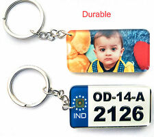 Personalized Vehicle Number Key ring for Bike Cars, With Logo and Number plate