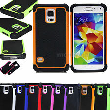 Hybrid Rugged Combo Hard Soft Silicone Rubber Cover Case For Samsung Galaxy S5