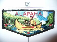 OA Alapaha Lodge 545,S-35c, 2000s Indian Canoe Flap, RED/RED Feathers,353,98, GA