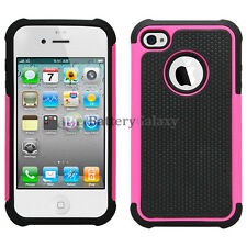 Hybrid Rugged Rubber Matte Hard Case Cover Skin for Apple iPhone 4 4G 4S