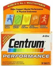 Centrum Performance Multivitamin & Minerals Plus Ginseng Supplement 30 Tablets