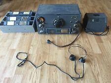 National HRO HF RCAF HF Receiver Complete Setup W/ Dog House PS Coils Phones WW2