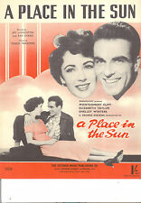 "A PLACE IN THE SUN ""Place In The Sun"" Elizabeth Taylor Montgomery Clift BRITISH"
