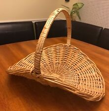 Large Firewood Swoop Wicker Basket with Handle 18 x 15