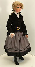 "31"" Tall Blond Doll Black Jacket Grey Skirt Patricia by Jan McClean"