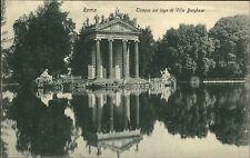 Rom Roma Italien Italia AK ~1910 Tempio Villa Borghese Werbung Glass & Tuscher