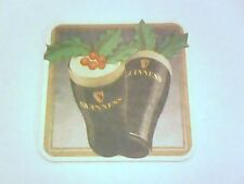 Vintage GUINNESS - SEASON'S GREETINGS   Beermat / Coaster - 2 sided -