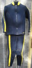 US Divers JM Cousteau 7mm 2 Piece Farmer John Wetsuit Medium Scuba Dive M Med