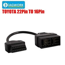 New 22Pin To 16Pin OBD1 to OBD2 Connect Cable for Toyota Cars Diagnostic Adapter