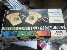 RARE Vtg 1960s AURORA  Inter-Com Telephone Play Set ORIGINAL BOX