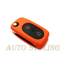 Orange Key Cover for Audi 2 Button Case Remote Fob Protector Cap Shell Bag 41o