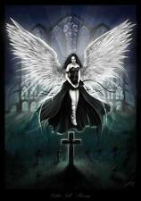 GOTHIC ANGEL- QUALITY CANVAS ART PRINT- Poster A4