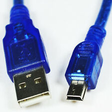 Hot Blue Short USB 2.0 A Male to Mini 5 Pin B Male Data Charging Cable 30CM  SH