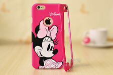 Hot Pink Cartoon Disney Mnnie mouse Front & back case cover for iPhone 6S 4.7""