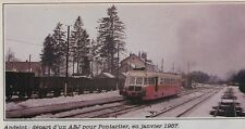 1982  --  ANDELOT  DEPART D UN AUTORAIL EN JANVIER 1957   3E840