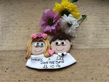 save the date magnets Handmade Personalised Wedding Keepsake Made To Order