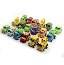 6X Kids Classic Construction Team Engineering Truck Toy Mini Pull Back Car Model