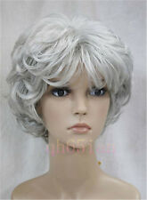2017 Fashion Women Ladies Short wig Curly Wig in Black/Brown/Blonde/Grey Wigs