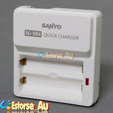 NEW SANYO Eneloop NC-TDR02 2 x AA Size Battery Charger Batteries Recharger