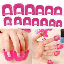 26X Curve Clip Anti Débordement Nail Art Stick Etuis Ongle Protection Vernis NF
