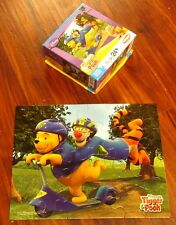 TIGGER & WINNIE THE POOH Scooter Ride jigsaw puzzle 2008 kids safety Disney