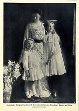 Kronprinzessin Maria von Rumänien und Töchter 1905 * Historische Memorabile