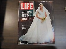 LIFE Magazine: White House Bride Tricia Nixon in her wedding dress June 18 1971