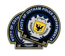 Gotham City Police - Batman Movie Decals (2) Removable Magnets