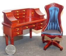 Dollhouse Miniature Carlton Desk & Chair 1:12 one inch scale E42 Dollys Gallery