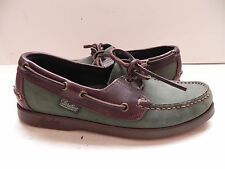 Dooney & Bourke~PARABOOT~Green & Brown Leather Boat Shoes size 6.5-7