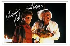 MICHAEL J FOX & CHRISTOPHER LLOYD BACK TO THE FUTURE SIGNED PHOTO PRINT