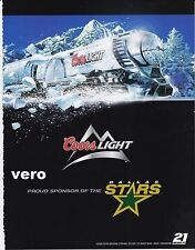 COORS light beer 2006 magazine ad alcohol clipping THE SILVER BULLET cool train