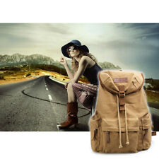 Vintage Canvas DSLR SLR Camera Backpack Travel Rucksack For Canon Nikon Sony