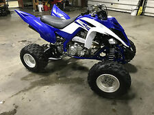 2015 YAMAHA RAPTOR 700R - LIKE NEW - RUNS AND LOOKS NEW - BLUE AND WHITE