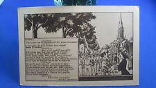 cpa illustrateur fantaisie marionnette guignol lyon carmen 8 eglise st georges