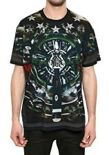 Givenchy Green Plane Fighter Jet Rottweiler Shark Oversized T-Shirt size L (XL)