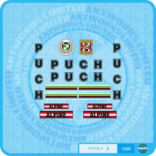 Puch Alpine Bicycle Decals - Stickers - Transfers - Set 3 - Black