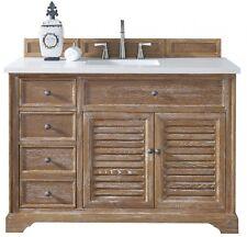 "48"" James Martin Savannah Driftwood Single Bathroom Vanity - All Wood - Rustic"
